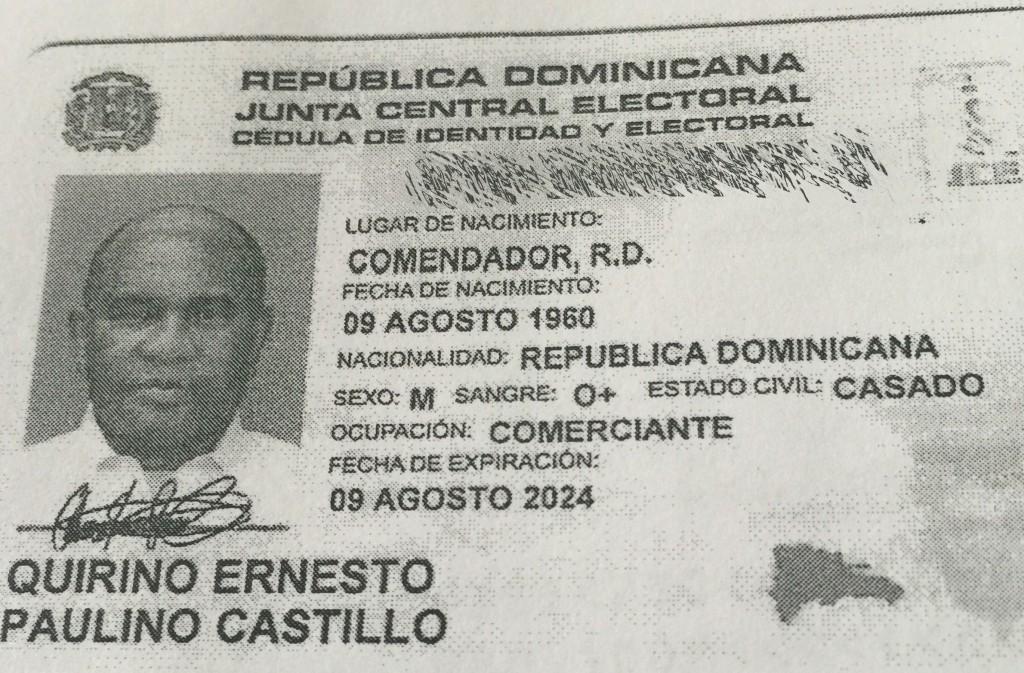 Photo of Quirino obtuvo cédula en la que figura como comerciante
