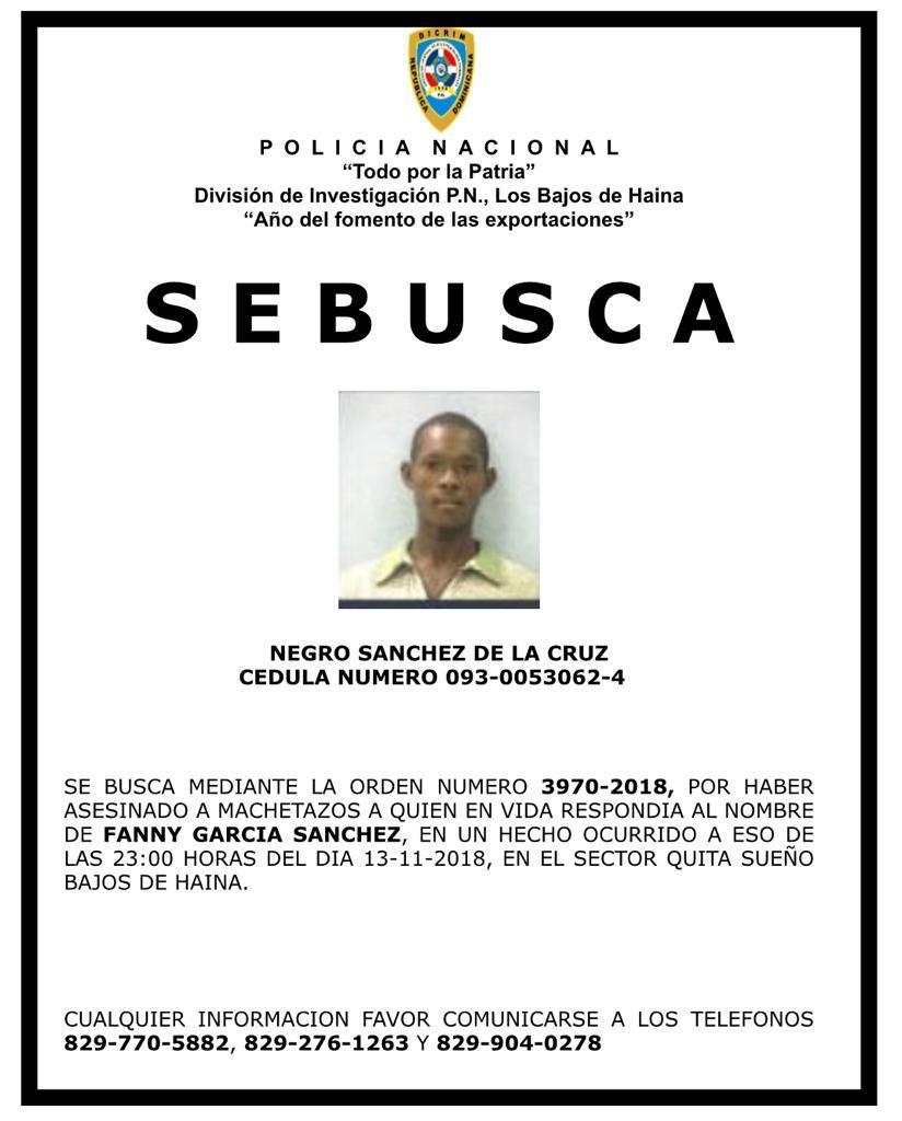 Photo of Policía Nacional Identifica Hombre Que Ultimó Mujer En Haina