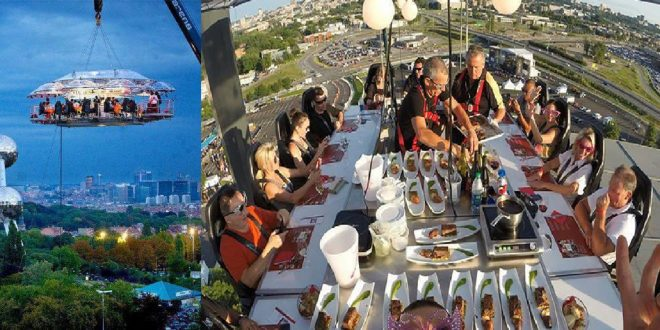 Photo of Aquí hay uno de esos: Cenando en el Cielo.