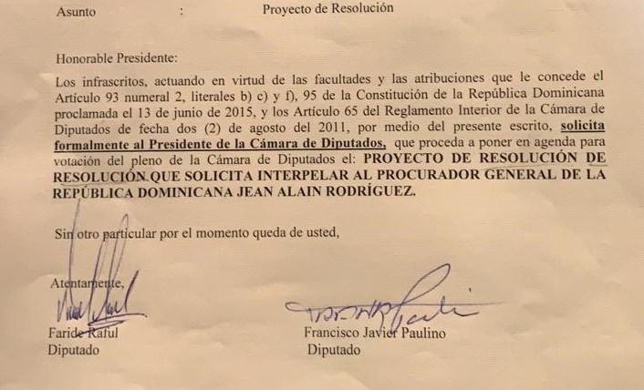 Photo of Diputados solicitan ante presidente de la Cámara interpelar a Procurador Jean Alain
