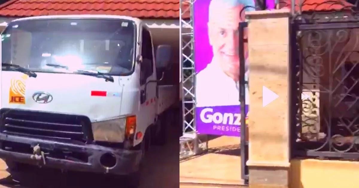 Photo of Graban infraganti camión de la JCE parqueado en el comando de campaña de Gonzalo Castillo en Dajabon en pleno conteo de votos manual