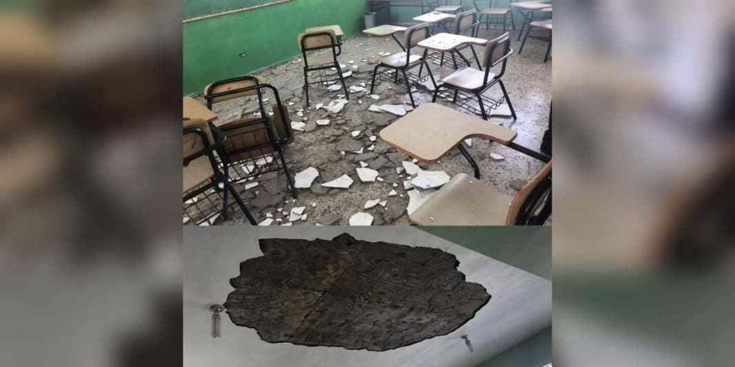 Photo of Techo de escuela se desploma por tercera vez y deja 5 niñas heridas en Sabana Perdida