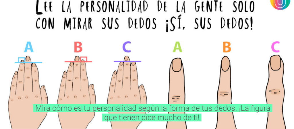 Photo of ¡Descubre la personalidad de la gente con tan solo mirar sus dedos!