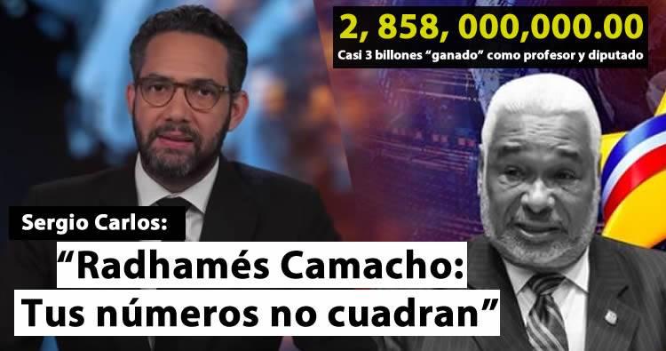 Photo of Sergio Carlo a Radhamés Camacho: 'Tus números no cuadran'