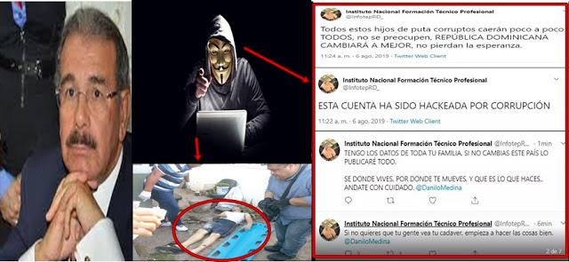 Photo of Hacker jaque y amenaza a Danilo Medina con publicar los resultados reales de las primarias del PLD y pronunciarse con relación a la muerte de Jariel Mota en un